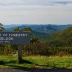 cradle of forestry overlook on the blue ridge parkway
