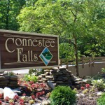 Main Gate Sign at Connestee Falls